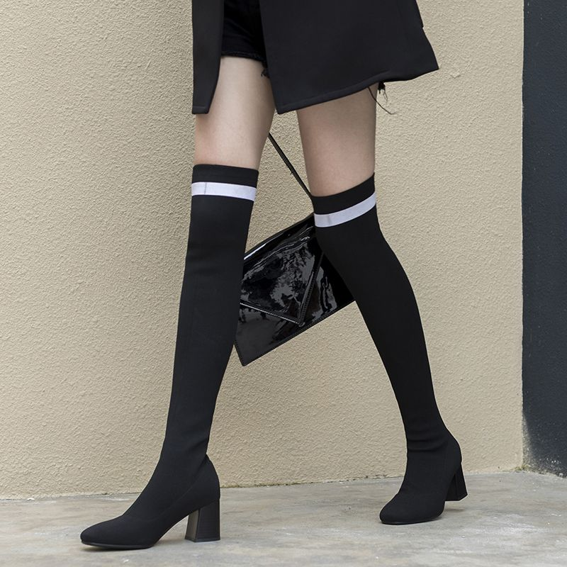 Chiko Daylin Above Knee Sock Boots Boots Thigh High Sock Boots Over The Knee Boot Outfit