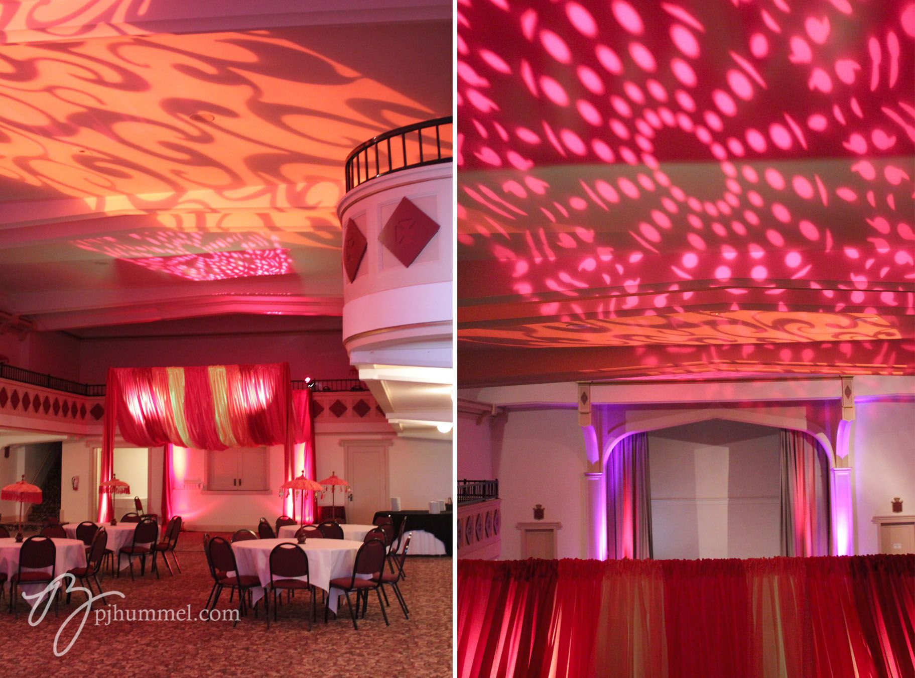 Moroccan decor on a budget. A few accessories and some strategic lighting  make this prom