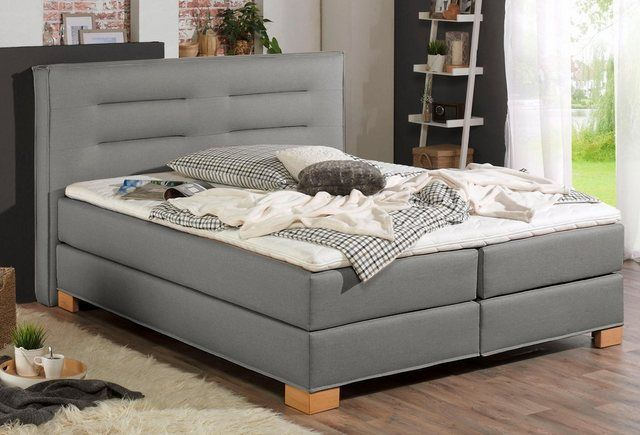 Photo of Home affair box spring bed »Finley«, incl. Cold foam topper, 5, widths, 2 degrees of hardness, 3 versions online OTTO