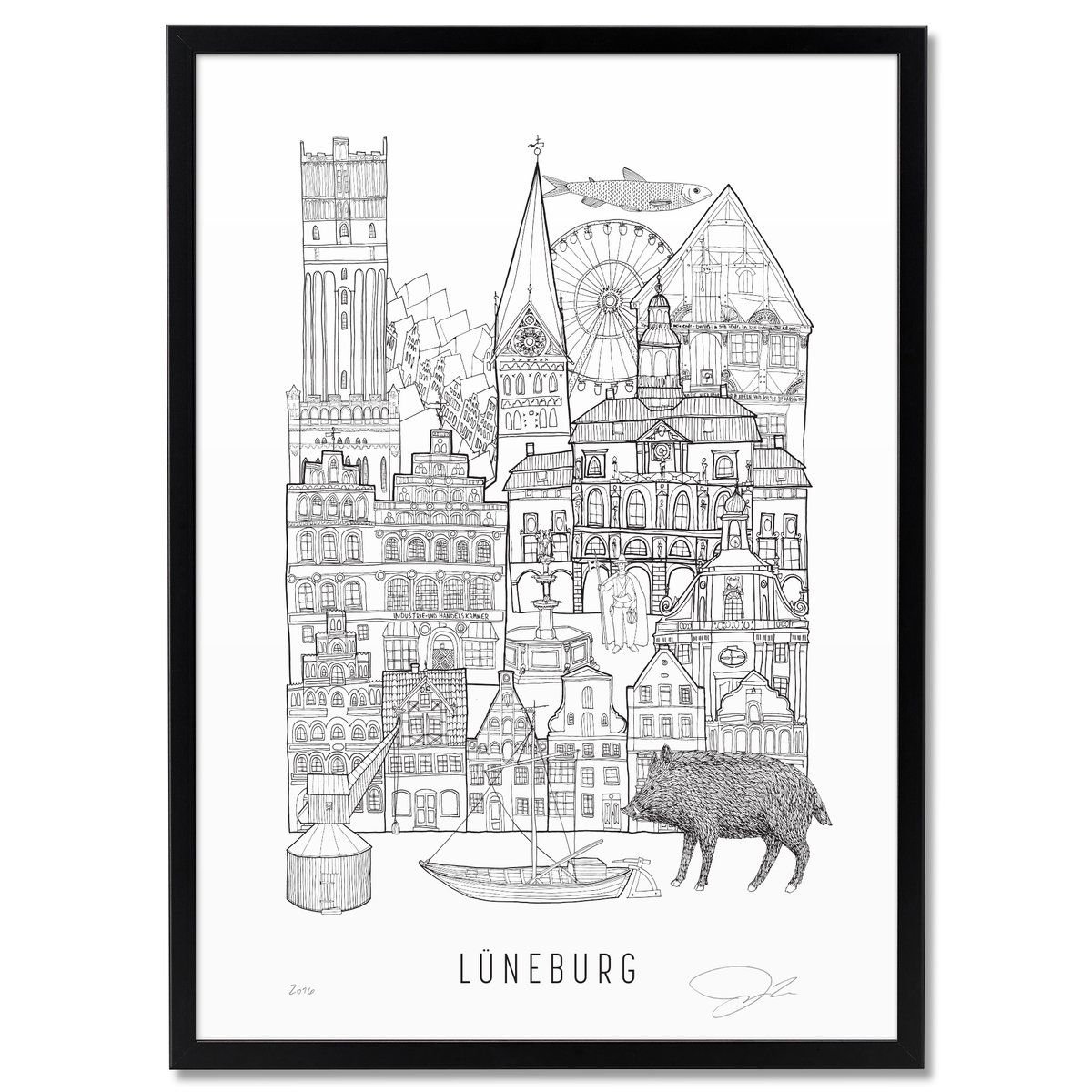 Illustration by Justin Landon Signed and Numbered SIZES: A3: 29,7 x 42 cm Price: 25.00 Euros A2: 42 x 59,4cm Price: 50.00 Euros Tags: Illustration,...