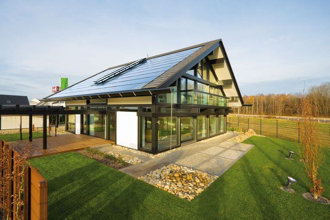 Ein Plusenergiehaus Als Modernes Fachwerkhaus Von Huf Haus