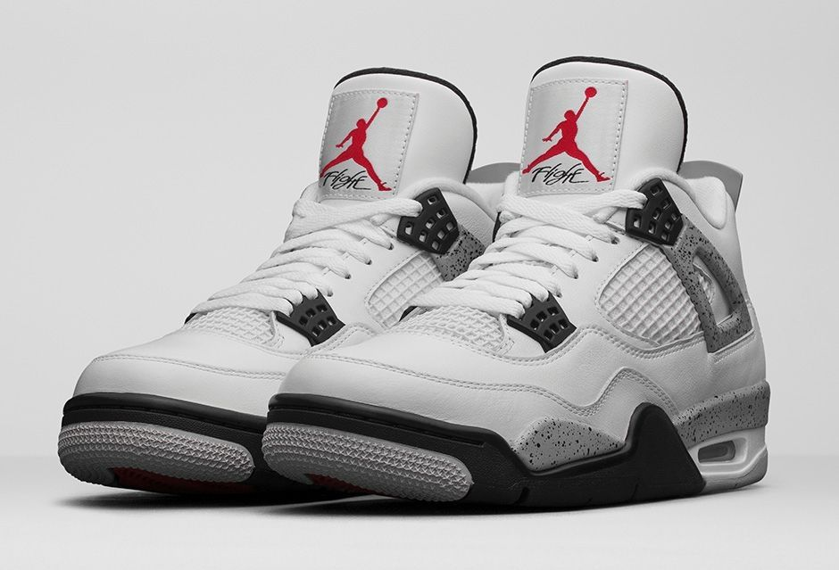 Air Jordan 4 Og 89 White Cement | Air jordan rétro, Jordan 4