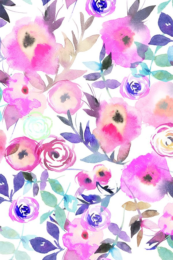 Trendy Flowers Design Watercolor Beautiful Ideas Flowers