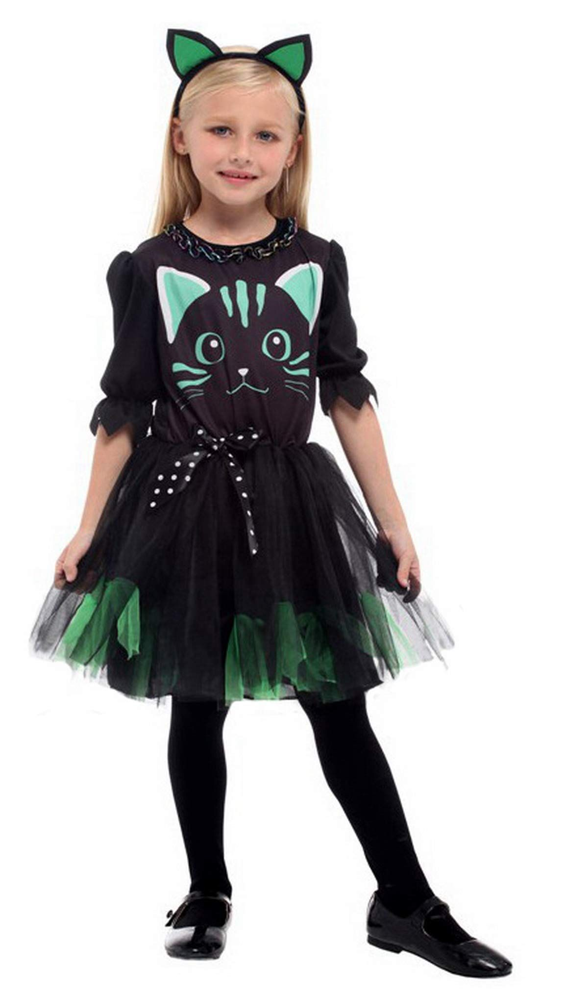 Brcus Kids Girls Cat Halloween Costumes Witch Role Play