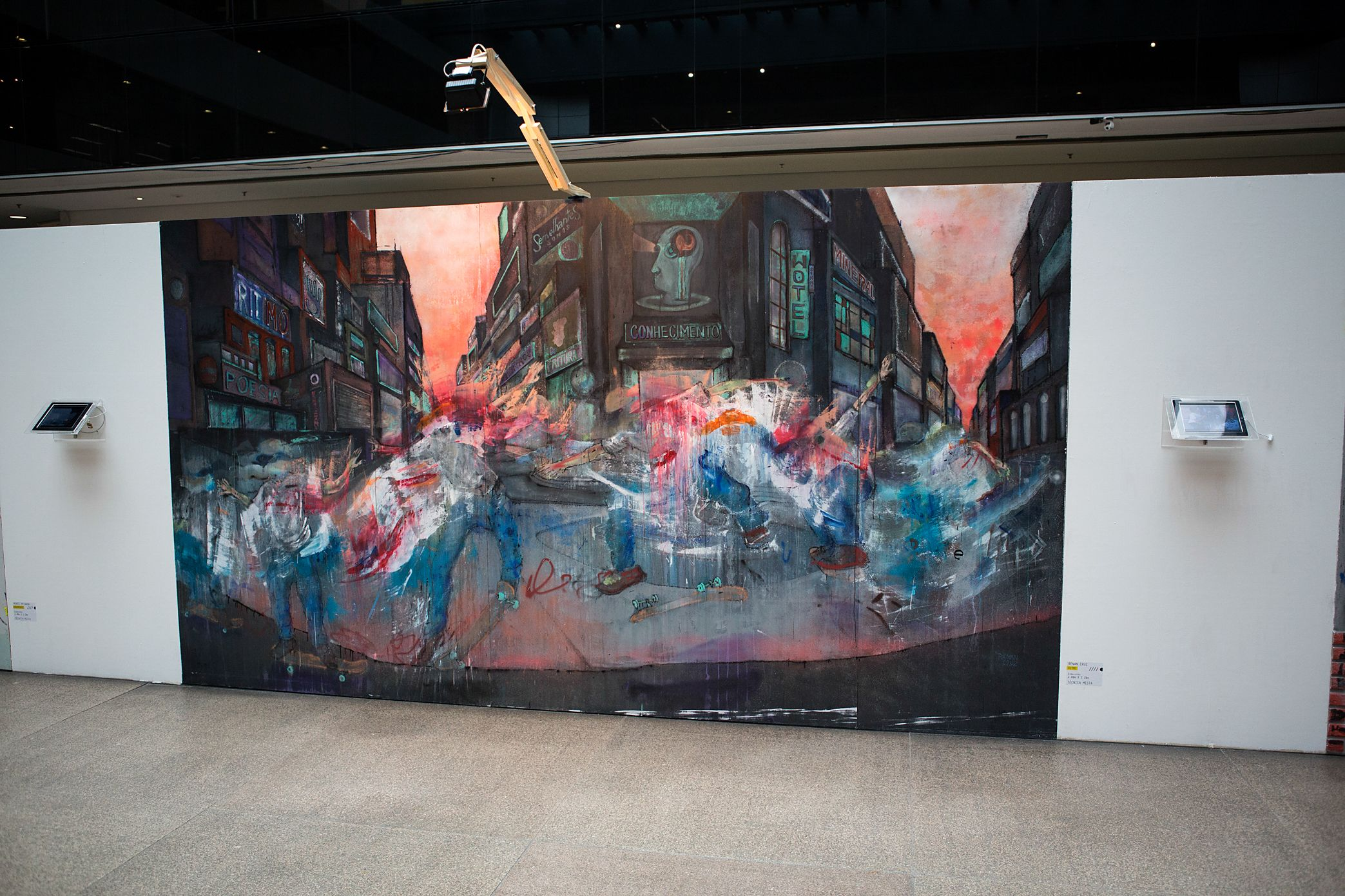 Pintura painel mostra Transformação 2014  Tecnica mista 4 x 2 m