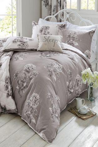 Buy Elegant Hydrangea Cotton Sateen Print Bed Set online today at