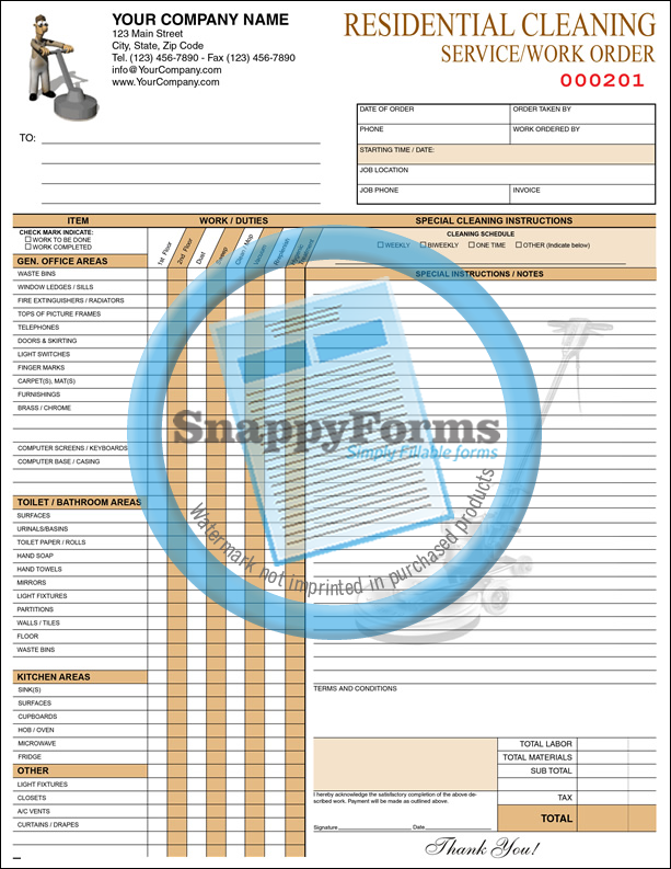 Office Cleaning Work Order Pdf Fillable Form Microsoft Word Form Fillable Forms Word Form Cleaning
