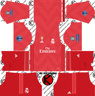 more photos aef74 62a4d Real Madrid 2018/19 UCL Kit - Dream League Soccer Kits ...