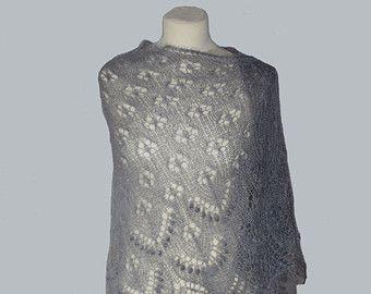 Mano a maglia scialle di pizzo kidsilk colore: di NataliKnit