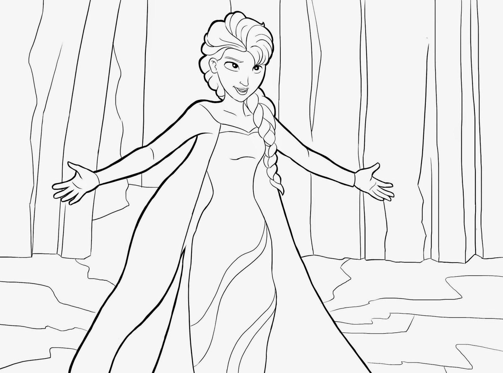 Ausmalbilder Eiskönigin 03 Frozen Pinterest