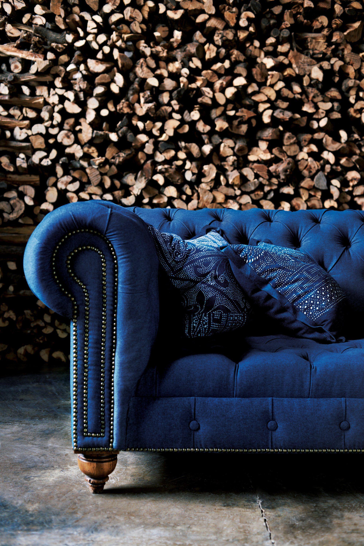 Rlh English Chesterfield Tufted Sofa Rlhcollection Blue Velvet
