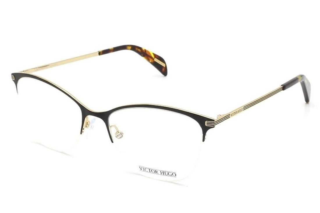 Oculos De Grau Victor Hugo Vh1256 0301 51 Preto Dourado Victor