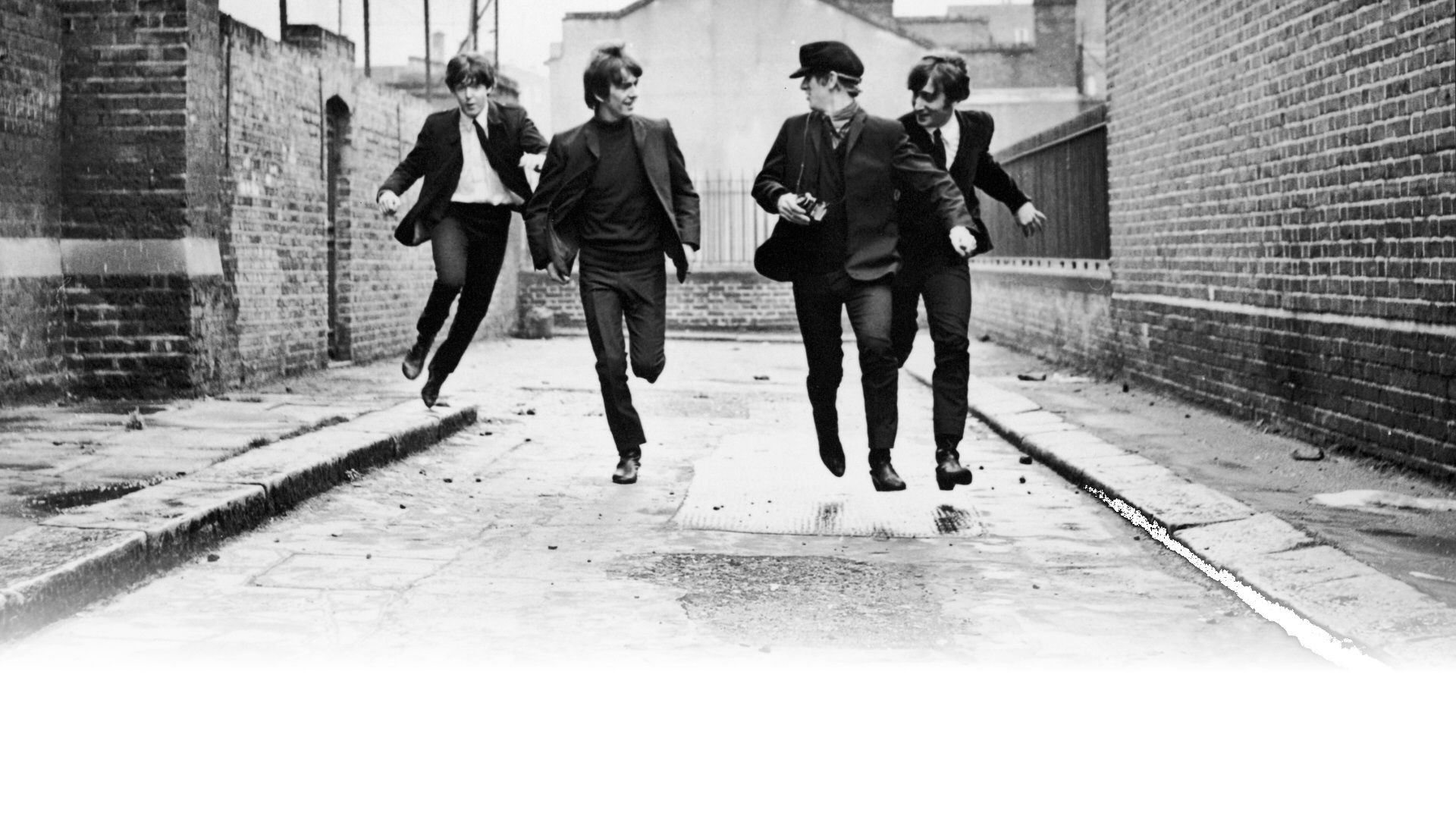 The Beatles Black And White Wallpaper HD Gray Color Free