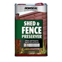 Ronseal Shed And Fence Preserver Wooden Fence Treatment Fence