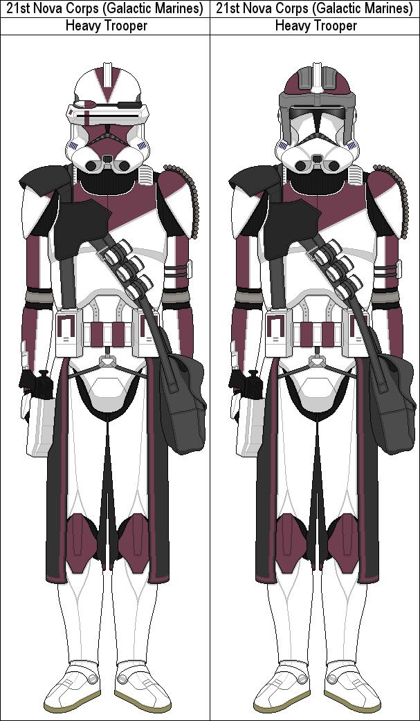21st Nova Corps Heavy Troopers By Marcusstarkiller Clone