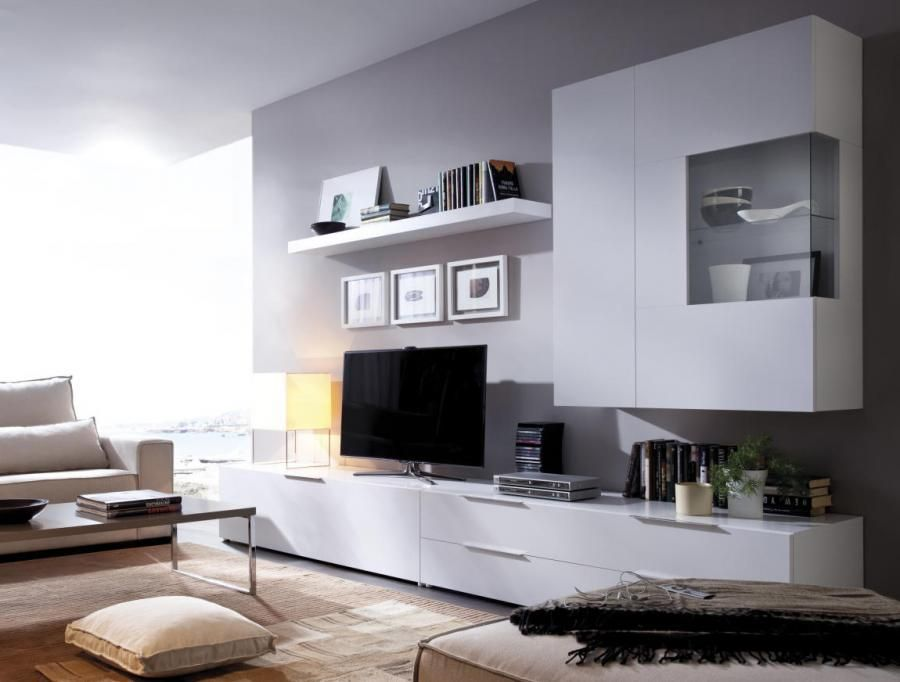 TV WALL STORAGE Contemporary Wall Storage System Choice Of Colour By  Rimobel   Contemporary Wall Storage System With Wall Mounted Display  Cabinet, ...