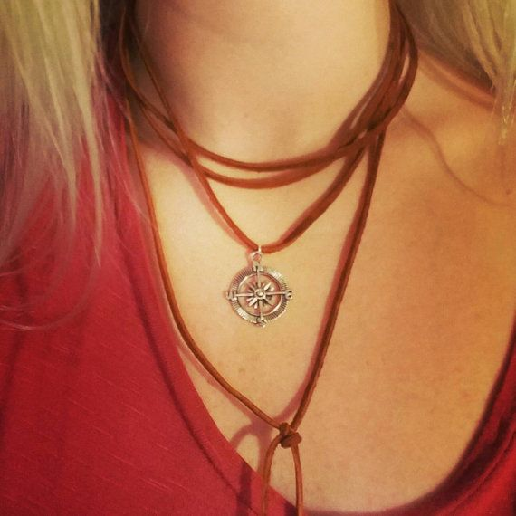 Check out this item in my Etsy shop https://www.etsy.com/listing/474861711/tan-leather-compass-choker