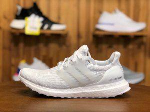 9a8e30db16c652 Mens Womens Adidas Ultra Boost UB 3. 0 Triple White BA8841 Running Shoes
