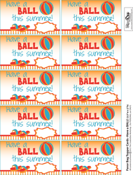 image about Have a Ball This Summer Printable called Include a \