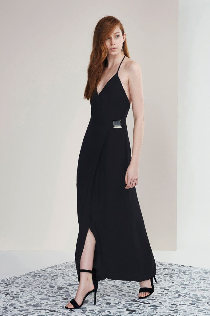 Oasis maxi dress black