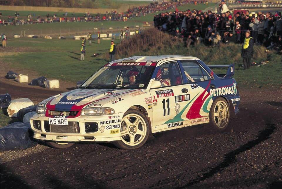 Tommi Makinen Lancer Evo Ii Rally Auto Mitsubishi Pinterest