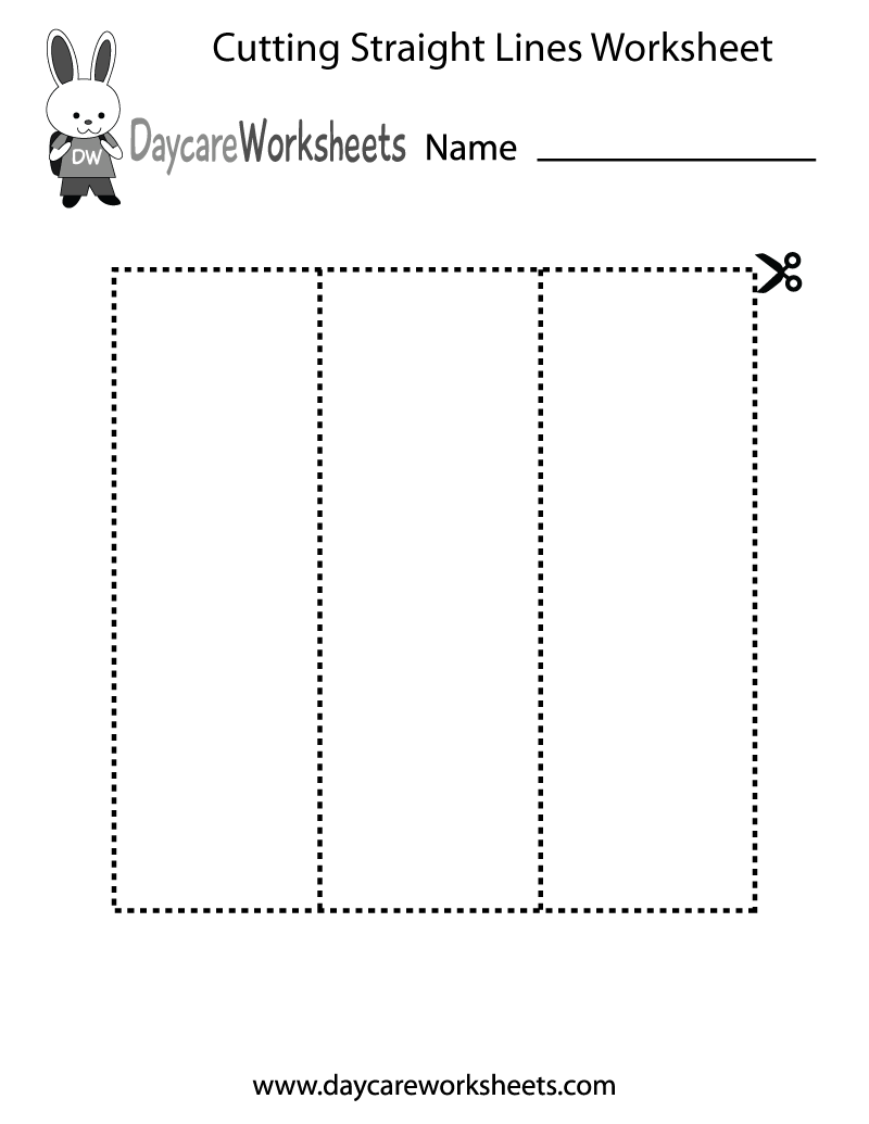 Easily print our cutting straight lines worksheet directly in your browser.  It is a free preschool Scissors Practice worksheet.