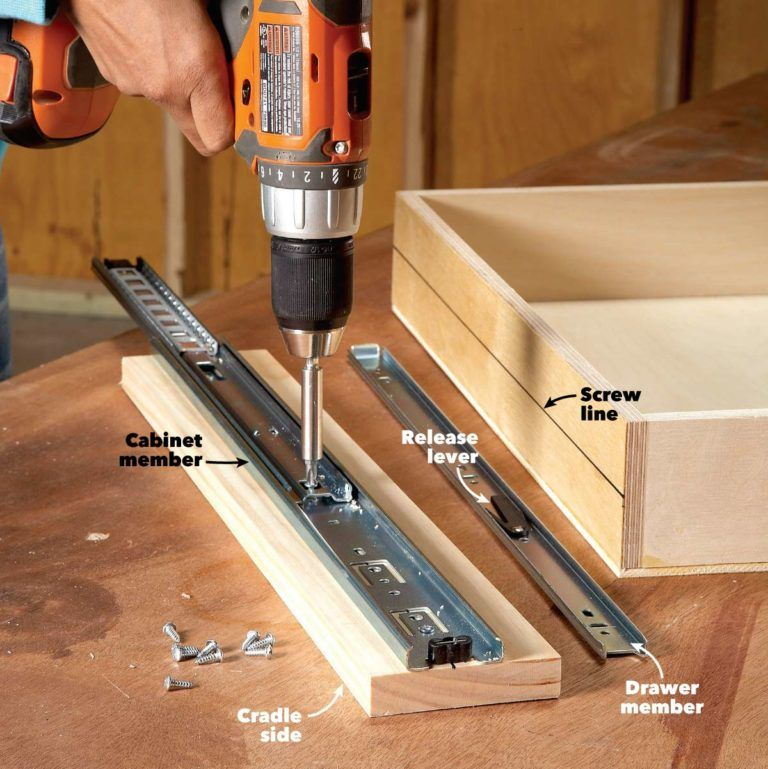 How to build drawers increase kitchen