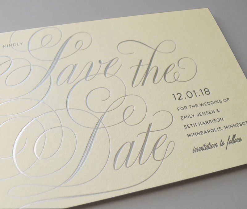 Kleinfeld Paper || Young Love Save-the-Date. Customize yours with Paper Passionista.