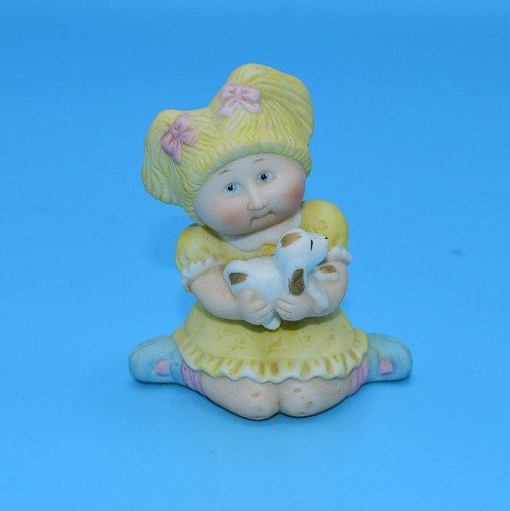 1984 Cabbage Patch Kids Ceramic Figurine Vintage Blonde Girl Etsy Ceramic Figurines Cabbage Patch Kids Antiques Repurposed