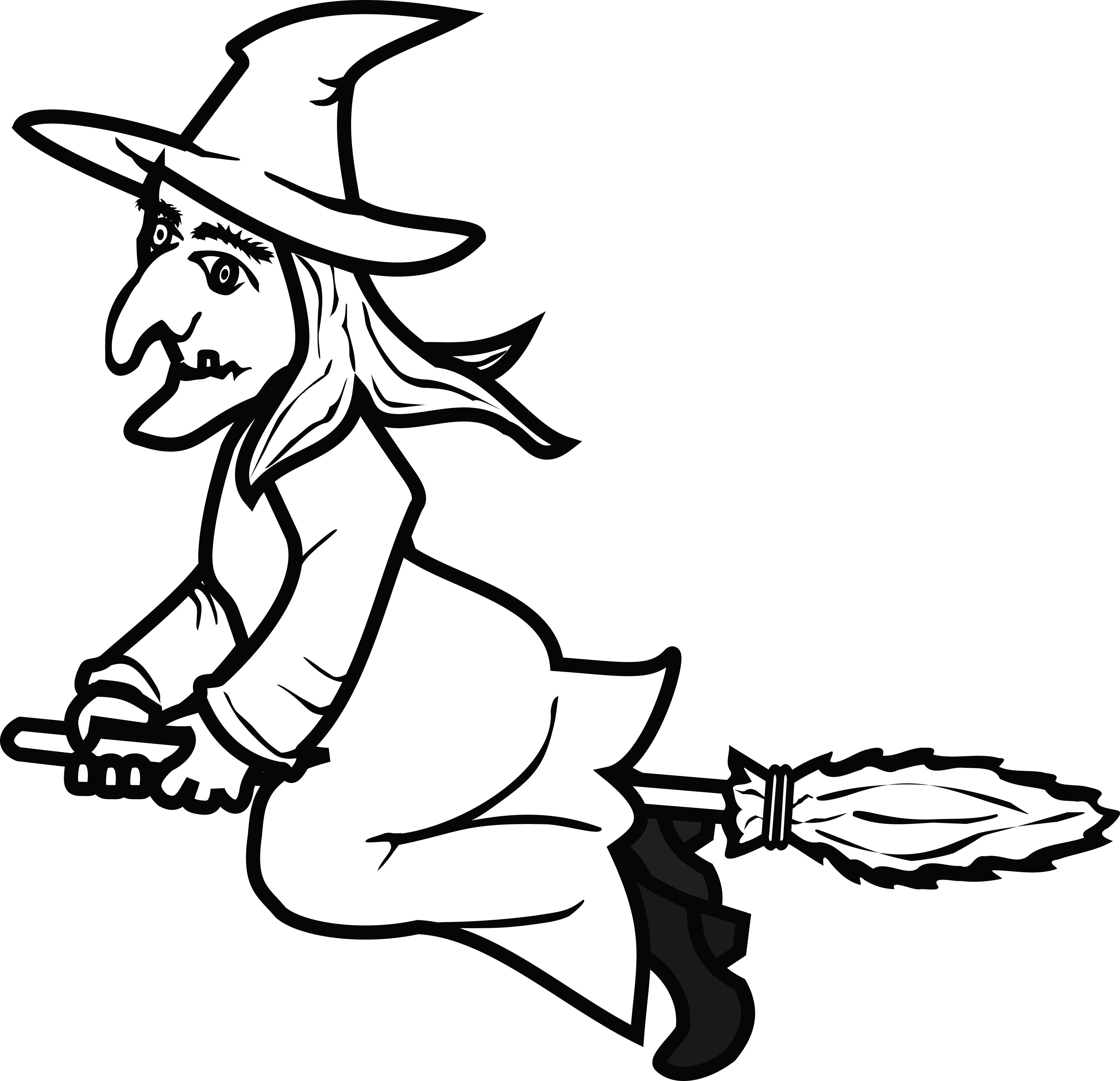 Witch Clipart Black And White Ideas Witch Clipart Clipart Black And White Cartoon Witch