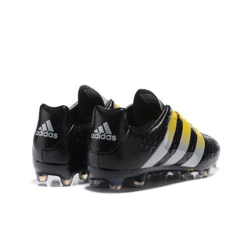 competitive price 4d96c 0fdad ... ny adidas ace 16.1 fg ag svart gul fotballsko ny adidas ace fotballsko