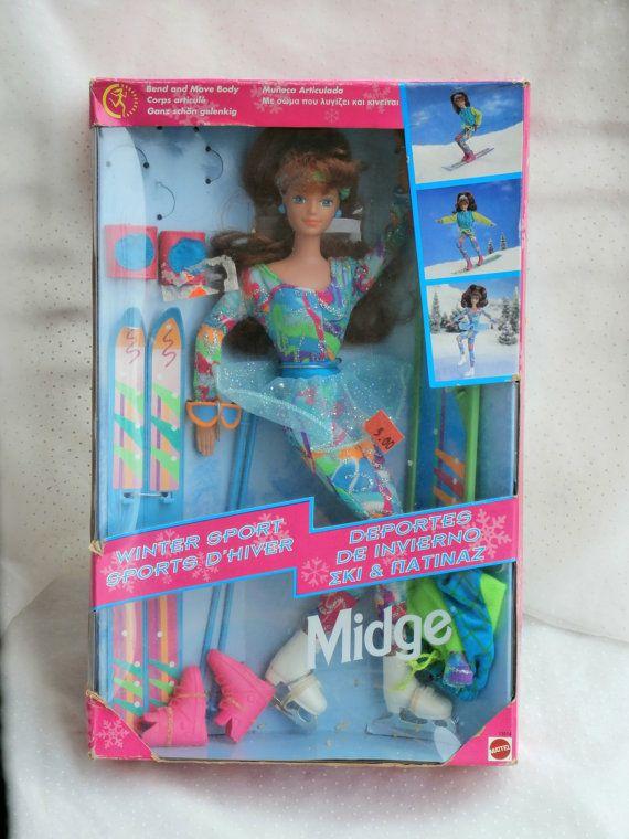 1994 Winter Sport Midge Doll in Box Ski Skate by MendozamVintage