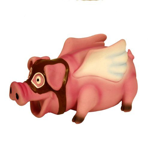 Krislin Flying Pig Toy With Goggles For Dogs For More