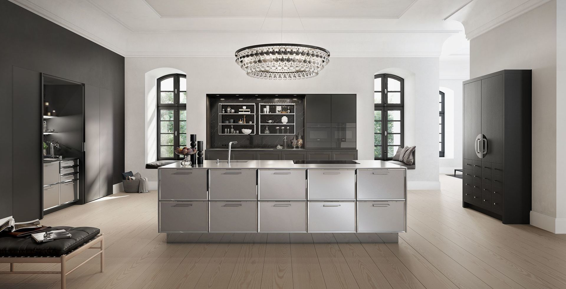 SieMatic CLASSIC! The Chinese wedding cabinet in black oak ...
