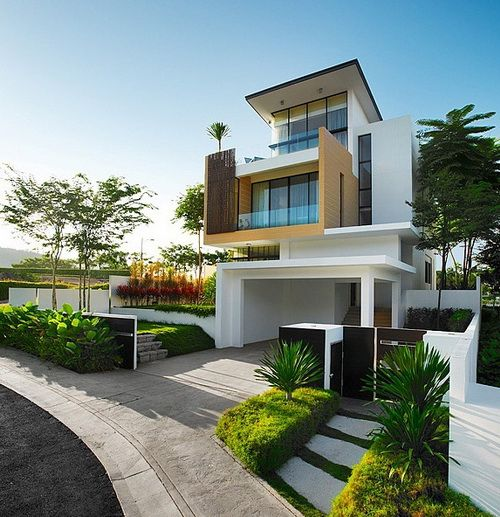 25 modern home exteriors design ideas exterior design for Exterior contemporary design