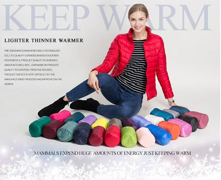 Jacket Slim Women Winter Puffer Jacket Portable