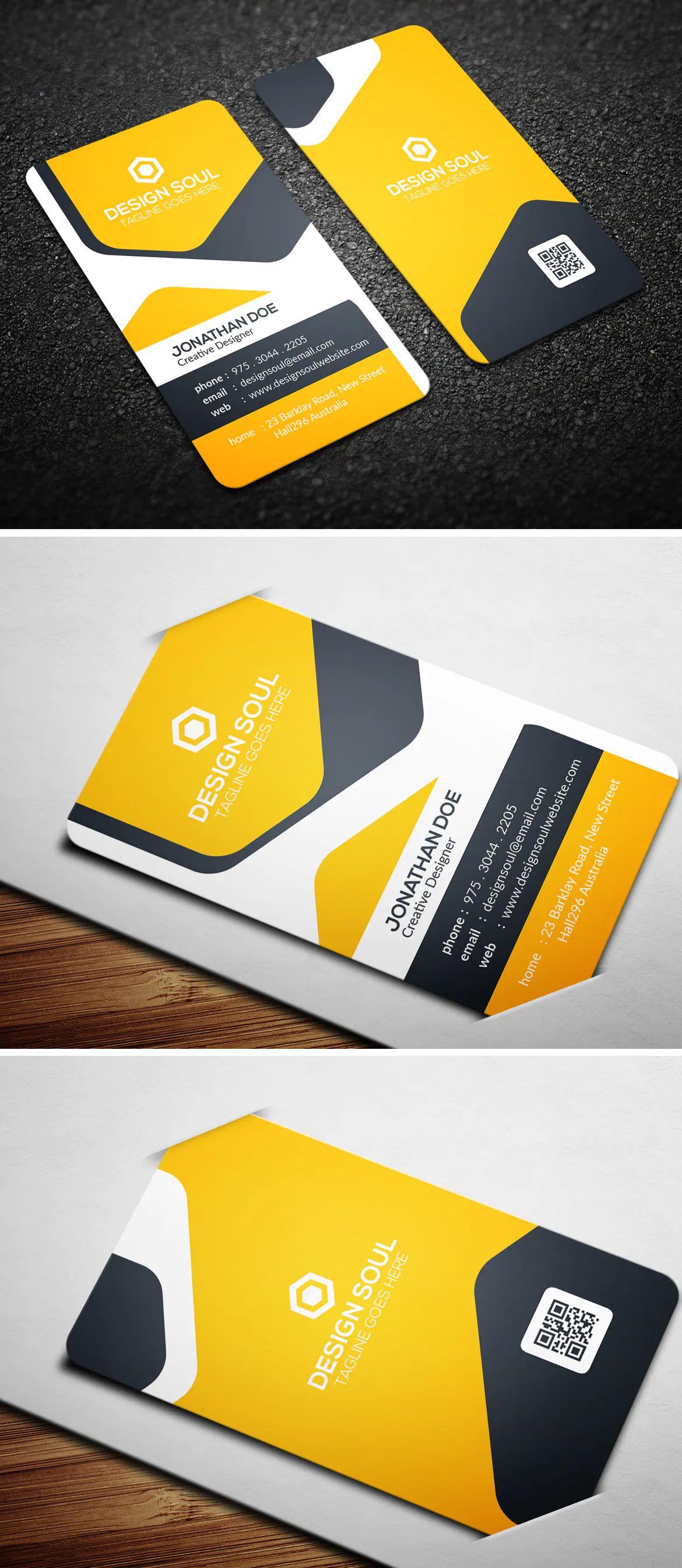 Modern Corporate Business Card Template Psd Corporate Business Card Business Card Template Psd Corporate Business Card Design