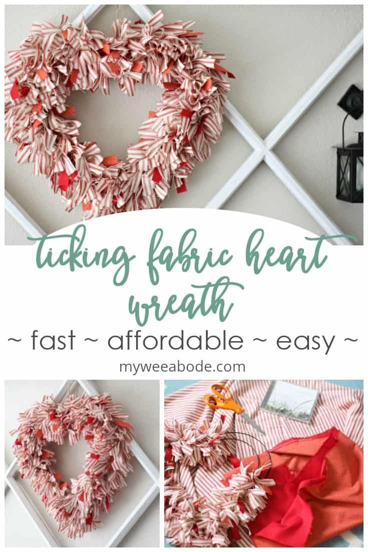 Photo of How to Make a Ticking Stripe Fabric Heart Wreath – my wee abode