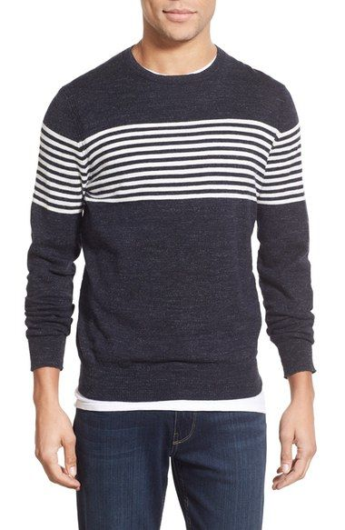 Grayers 'Shore Club' Chest Stripe Crewneck Sweater available at #Nordstrom