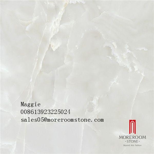 Snow White Porcelain Onyx Marble Tiles