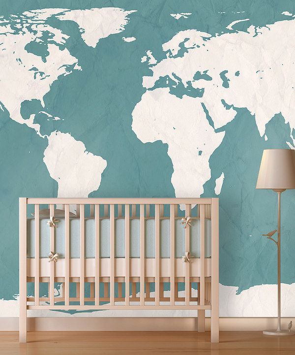 Look at this teal world map wallpaper on zulily today decor look at this teal world map wallpaper on zulily today gumiabroncs Gallery