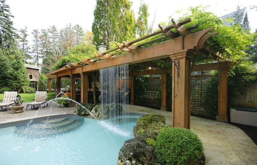 Pin By Rozlynde Valentino On Lakehouse Outdoors Patio Fountain Backyard Renovations Patio