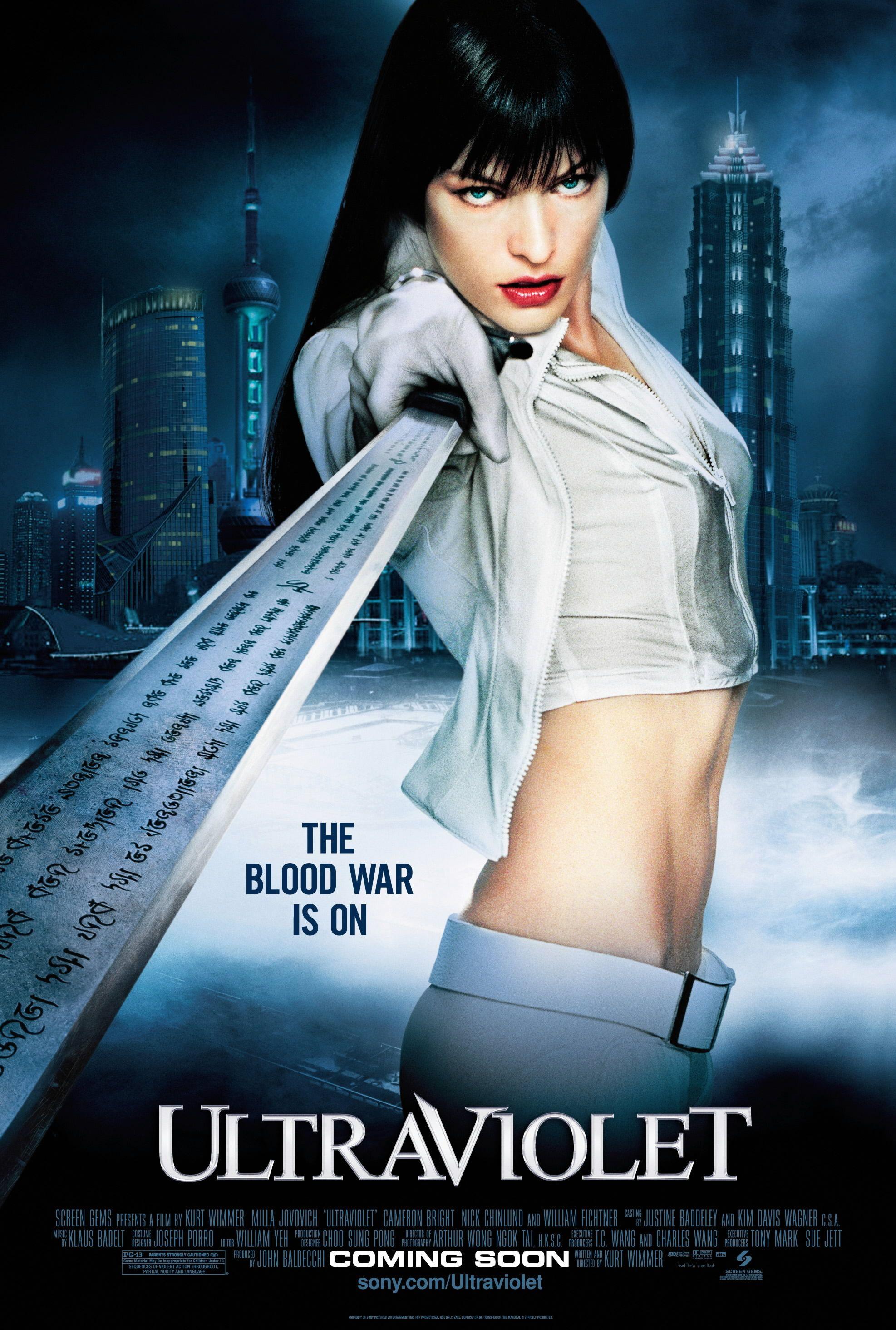 """""""Ultraviolet"""" - Ultravioleta (2006) by Kurt Wimmer (""""One of Milla Jovovich's best movies."""" - Commented by Stefania: Thx!)"""