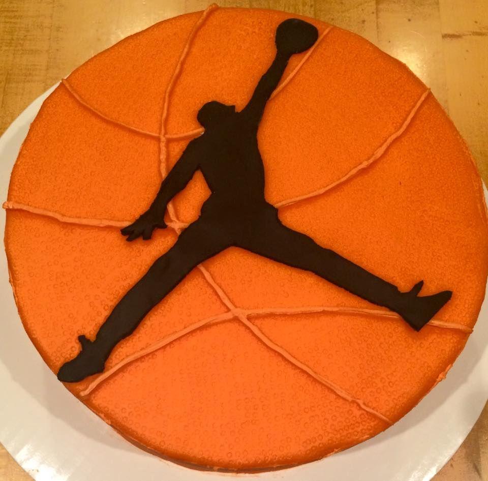 Michael Jordan inspired cake Topper made from buttercream fondant