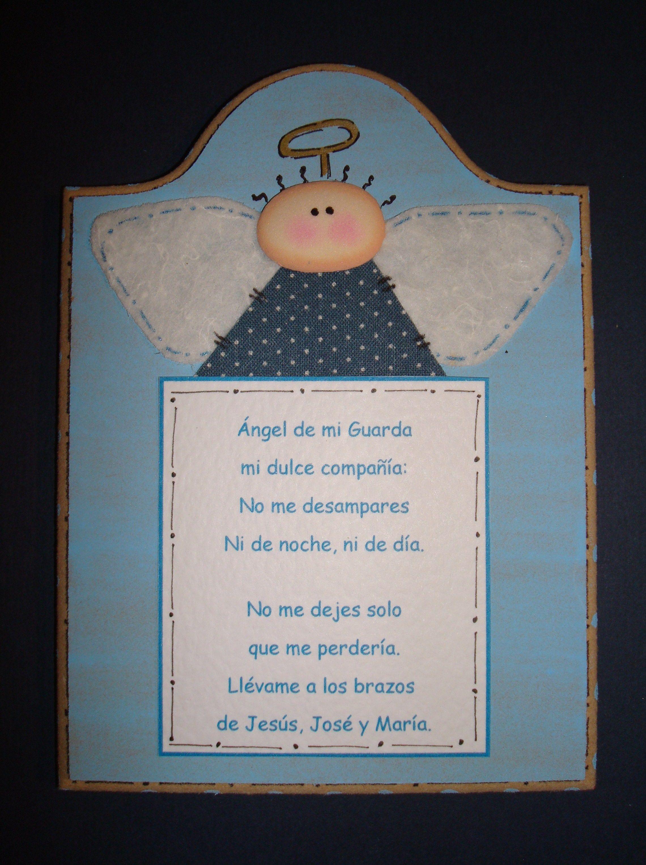 Angel de mi Guarda... | marcos con frases | Pinterest | Ángeles ...