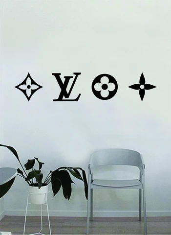 louis vuitton logo pattern v2 wall decal home decor on wall logo decal id=90843