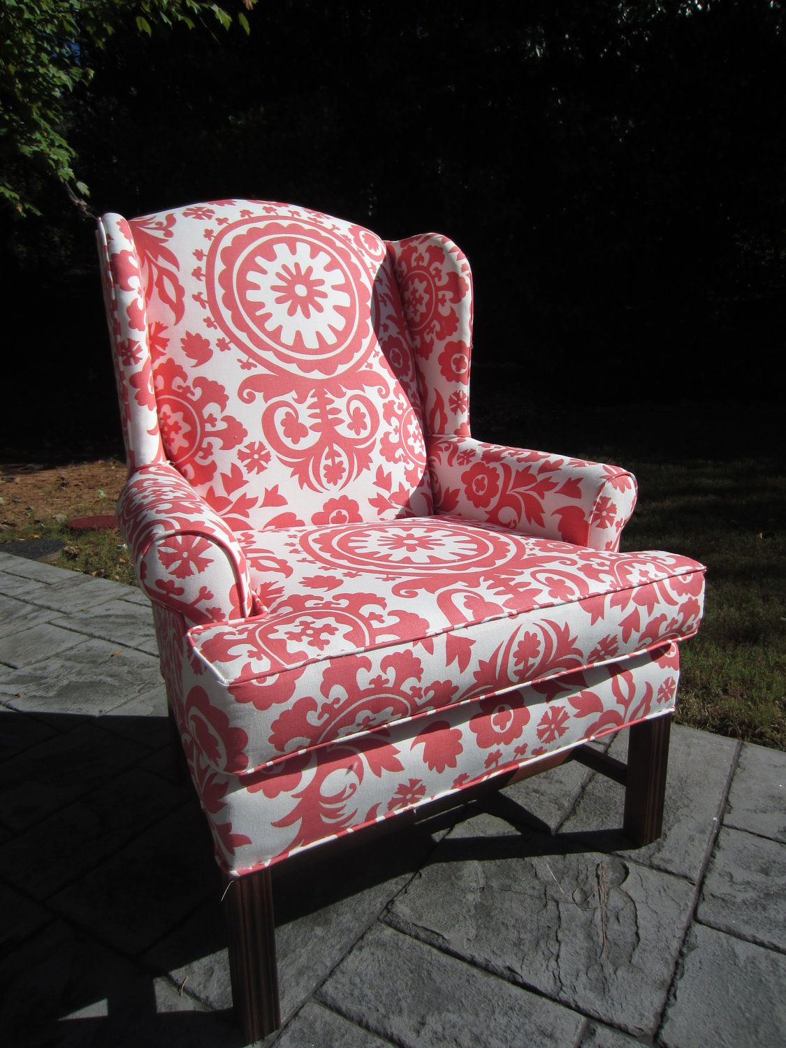 Colorful Accent Chair Tall High Coral Breeze This Would Be Cute To Have