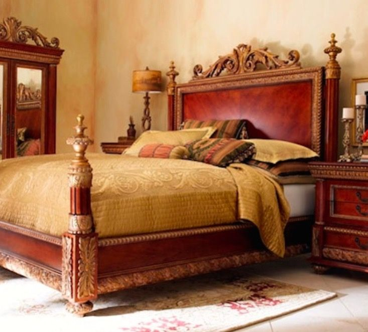 Pulaski Bellissimo King Bed Nightstands From Horchow Neiman Marcus King Bed 94 L X 84 Bedroom Furniture Makeover King Bedroom Sets Bedroom Furniture