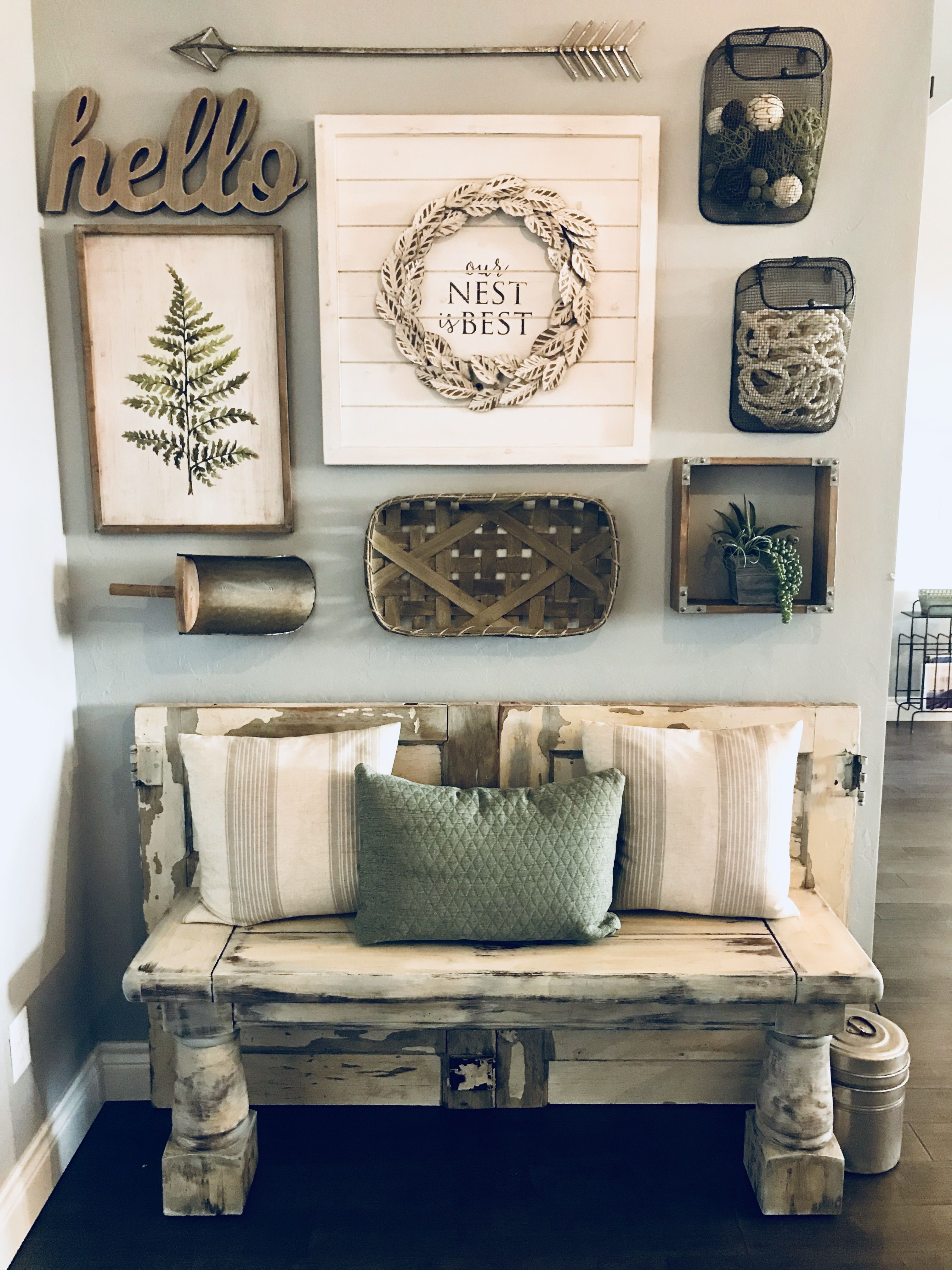 Modern Farmhouse Entry Bench and Accent Wall-design by ...