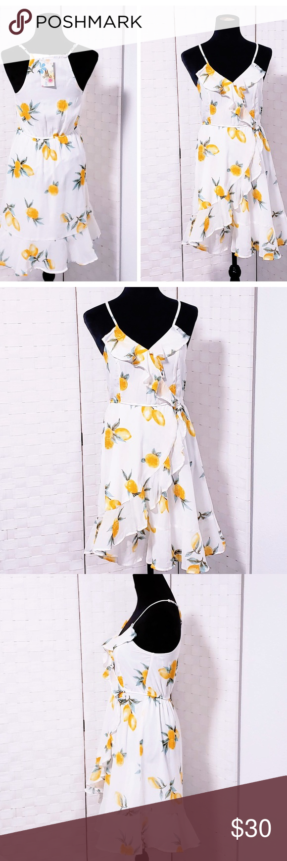 Ruffled Lemon Print Shift Dress S Printed Shift Dress Lemon Print Shift Dress [ 1740 x 580 Pixel ]